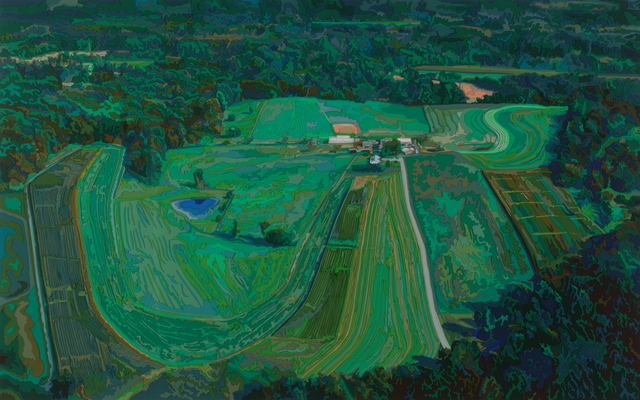 , 'Farm from a Helicopter,' 2005, Woodward Gallery