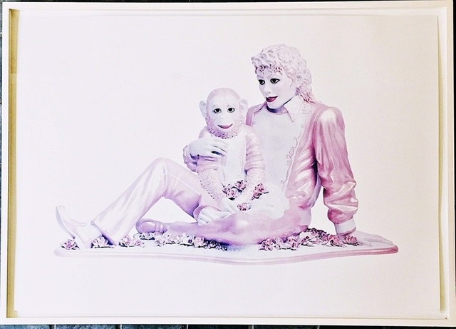 Jeff Koons, 'Portrait of Michael Jackson and Bubbles (Pink)', 1995, Alpha 137 Gallery Auction
