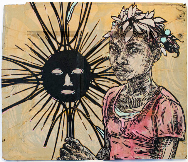 Swoon, 'Edline', 2016, Black Book Gallery