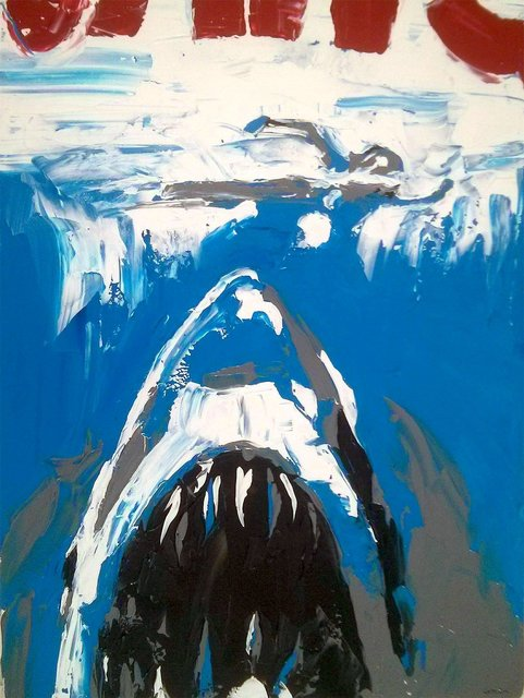 , 'Classic Cult Horror Attack Shark Movie Jaws,' 2018, Angela Tandori Fine Art
