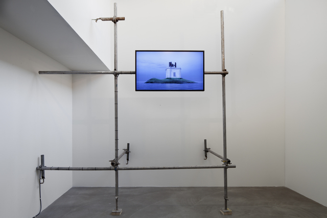 Jani Ruscica, 'Foghorn', 2013, Video/Film/Animation, 3D animation, stereo sound, scaffolding, flat screen, Galerie Anhava