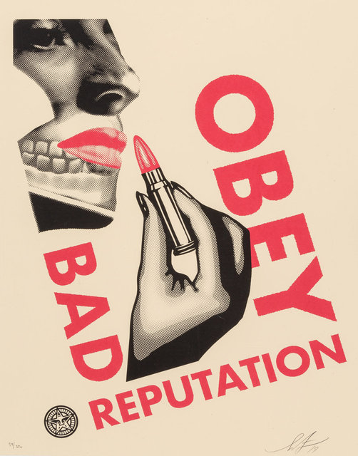 Shepard Fairey, 'Bad Reputation (Black and Cream) (two works)', 2019, Heritage Auctions