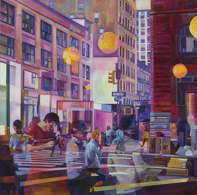 , 'Yellow similarities in an urban dream,' 2016, Gudberg Nerger