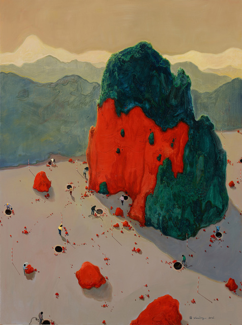 Zhou Jinhua 周金华, 'Red Mountain 红山 No.1', 2016, Painting, Acrylic on canvas, ART LABOR Gallery