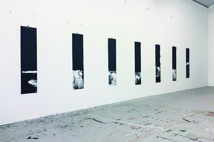 Ian McKeever's studio, Dorset, UK