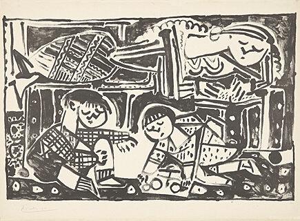 Pablo Picasso, 'La mère et les enfants (Die Mutter und die Kinder)', 1953, Galerie Boisseree
