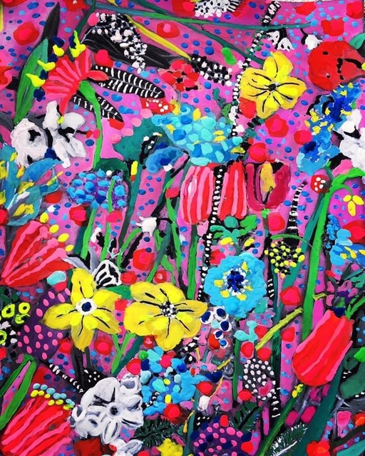 Andee Axe, 'Happiness is Alive', 2020, Painting, Acrylic, canvas,  glitter, resin, The Illustrated Gallery