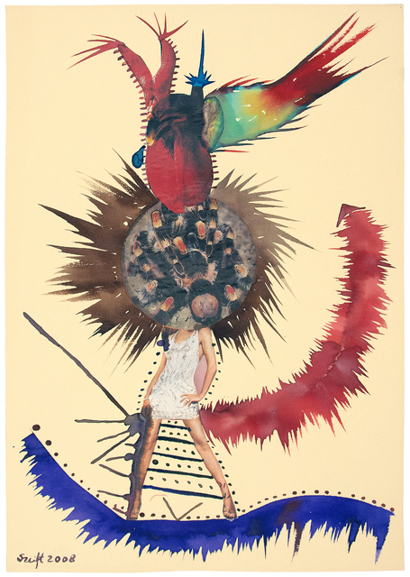 Bela Szeift, 'Tarantella', 2008, Drawing, Collage or other Work on Paper, Mixed media-watercolor,ink, collage on paper, FRED.GIAMPIETRO Gallery