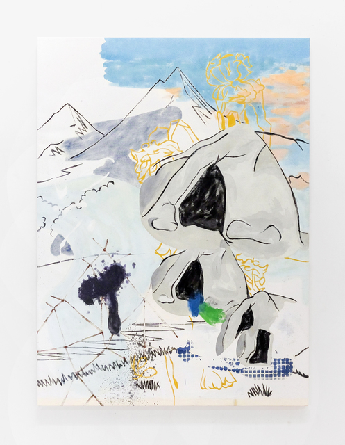 Chris Hood, 'Everest Burning', 2020, Painting, Alkyd on canvas, Martin Asbæk Gallery