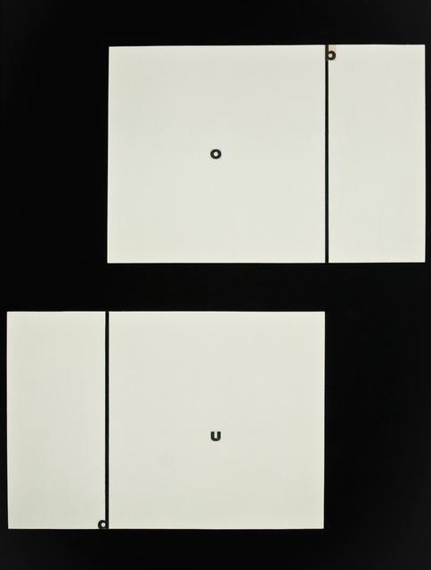 , 'Ohne Titel / Untitled (o b a u),' 1961, Christine König Galerie