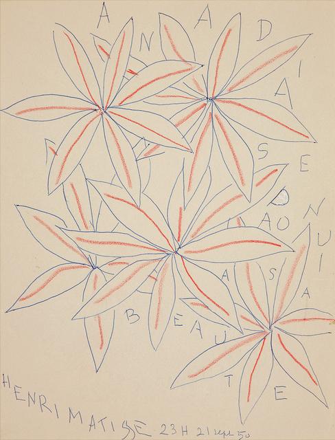 , 'CINQ FLEURS A SA BEAUTE,' 1950, Galerie des Modernes