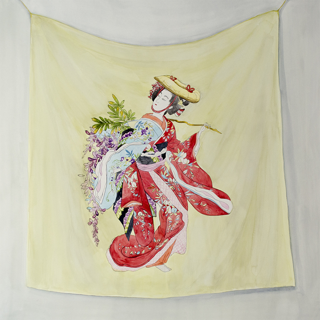 Oksana Reznik, 'Japanese Silk', ca. 2019, Painting, Watercolor, bG Gallery