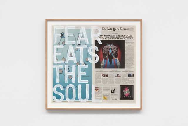 , 'untitled 2017 (fear eats the soul/saturday, january 21, 2017),' 2017, kurimanzutto