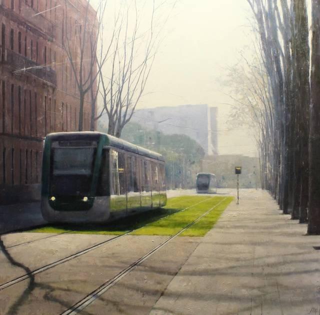 , 'Primer tramvia,' 2017, Sala Parés