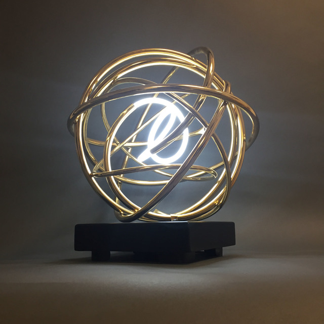, ' Gold Neon Orb,' , After Nyne Gallery