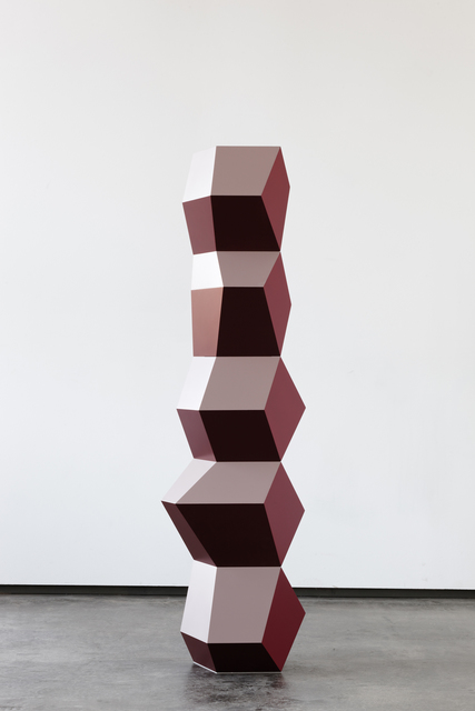 , 'Five Form Stack: Red, Wine & Beige,' 2016, Simon Lee Gallery