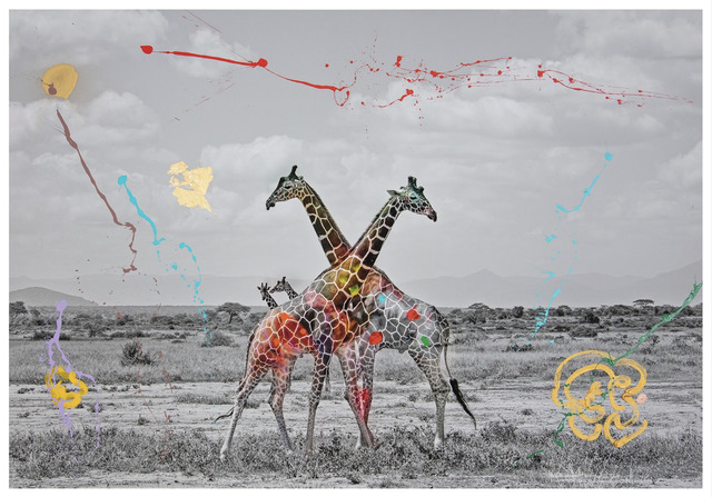 , 'Giraffe Duet,' 2019, Space Gallery St Barth