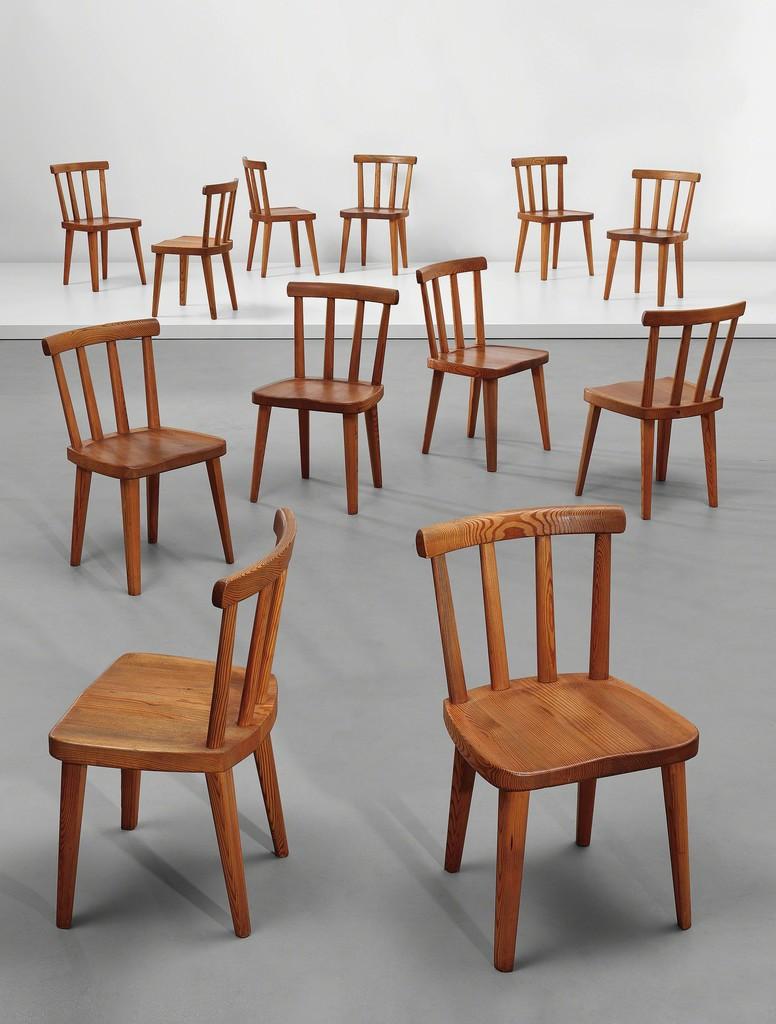 Axel Einar Hjorth, U0027Set Of Twelve Chairs, From The U0027Utöu0027 Series