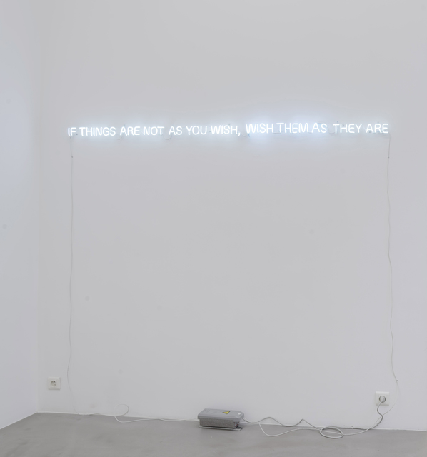 , 'If Things Are Not As You Wish, Wish Them As They Are,' 2013, SARIEV Contemporary