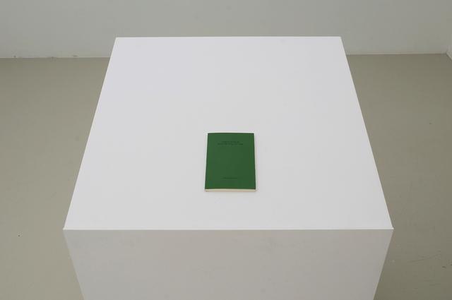 Andreas Slominski, '(grün) Die Geige, die Geige', 1986, West Den Haag