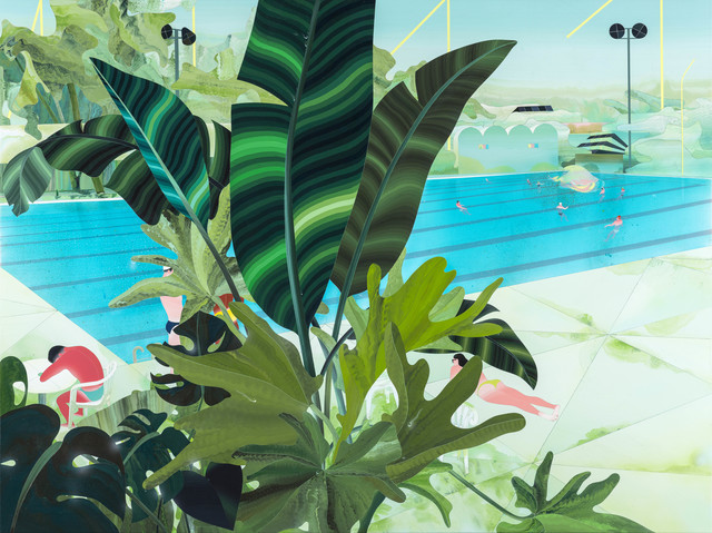 , 'Glimpse of the Pool Between the Leaves,' 2016, Aki Gallery