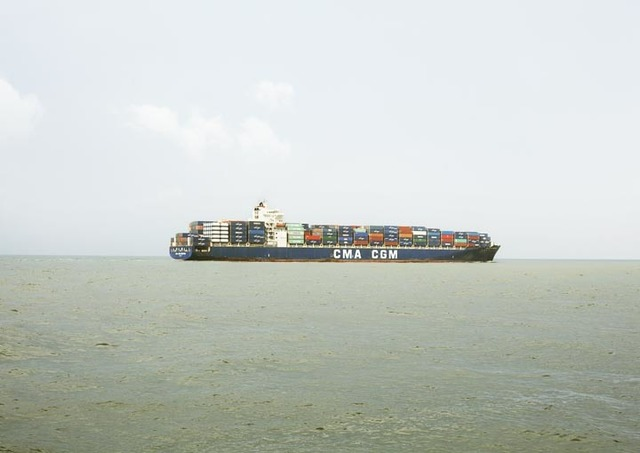 , 'Untitled (Container Ship, CMA CGM Kingfish, Liberia), Houston Ship Channel, Texas,' 2016, Yancey Richardson Gallery