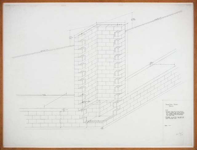 , 'Tunnel/Well Project - Section,' 1973, Galerie Thomas Schulte