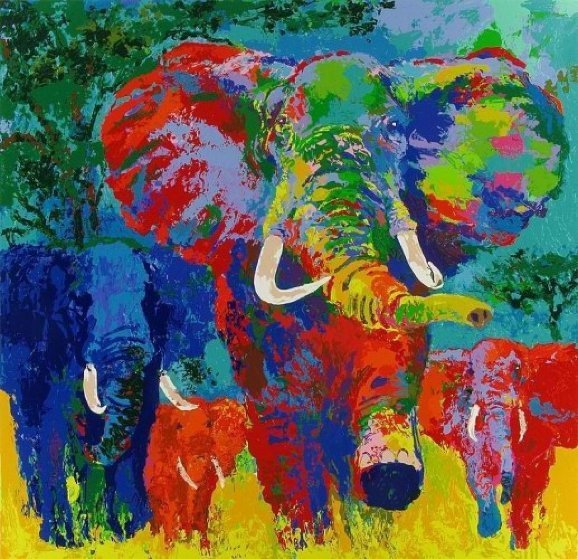 LeRoy Neiman, 'Elephant Charge', 1999, Il Concept Art Gallery