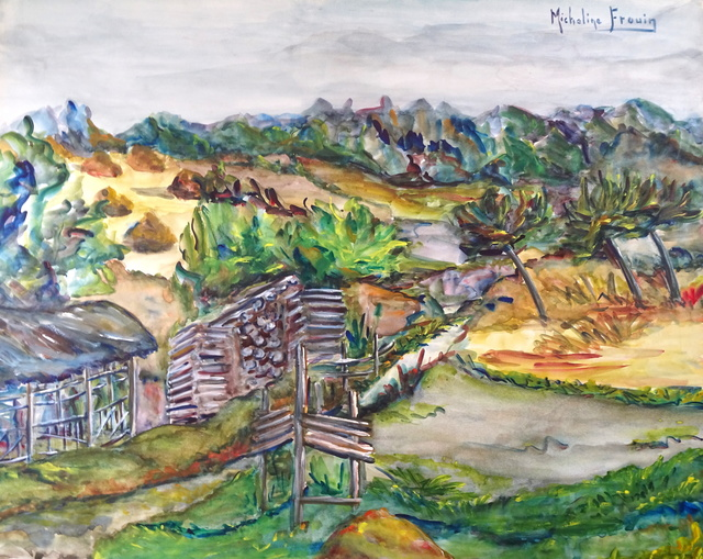 Micheline Frouin, 'Paysage d'Alsace ', Second Half of 20th Century, Wallector