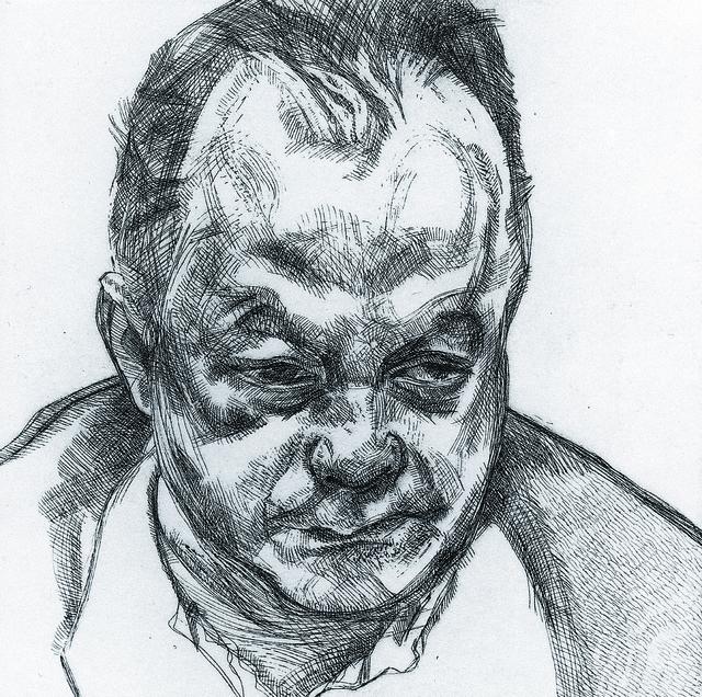 , 'Head of Bruce Bernard,' 1985, Marlborough London