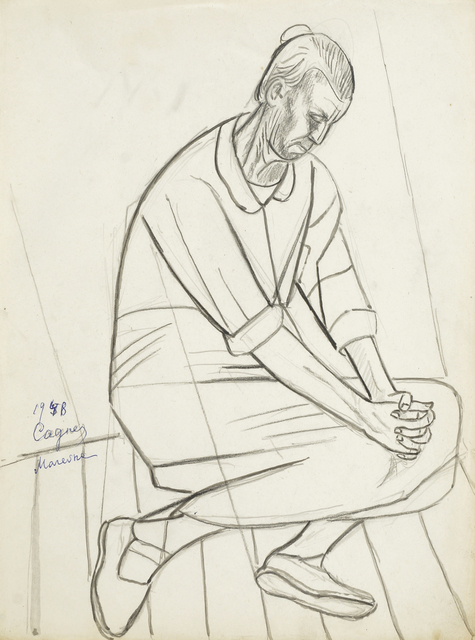Marie Vorobieff Marevna, 'Woman kneeling and praying (recto and verso)', 1948, Roseberys