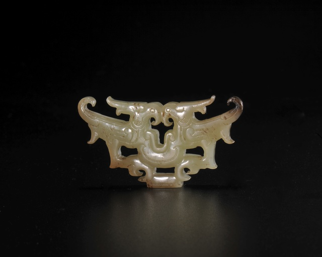 , 'Jade double-phoenix pendant in openwork,' Warring States Period, Art Museum of the Chinese University of Hong Kong