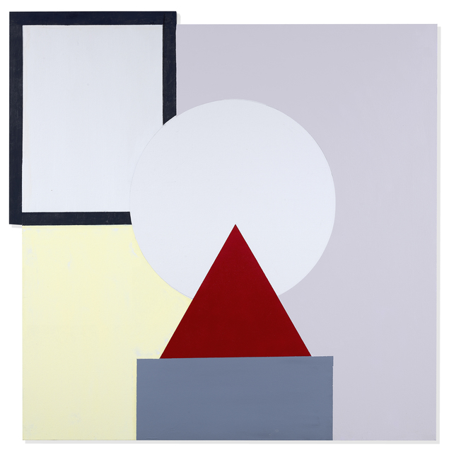 , 'Red Triangle on Gray,' 2018, Berry Campbell Gallery