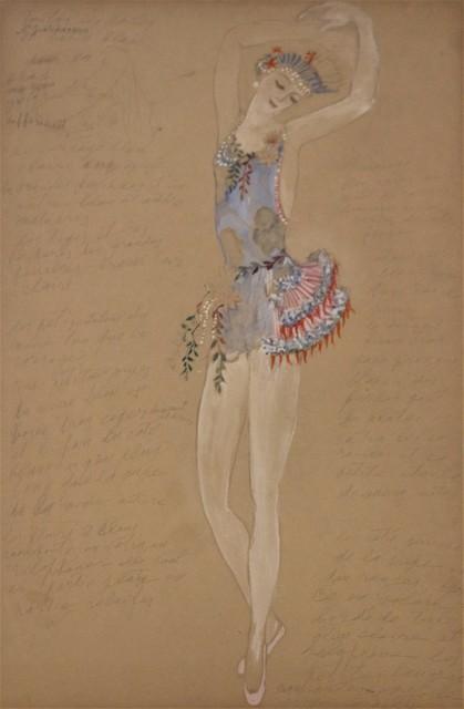 Natalia Goncharova, 'Costume for a Ballerine Dancer by Natalia Gontcharova, Watercolor and Pencil', ca. 1916, Avant-Garde Gallery