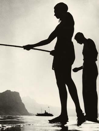 Herbert List, 'Friends Fishing, Lake Lucerne, Switzerland', 1937, Fahey/Klein Gallery