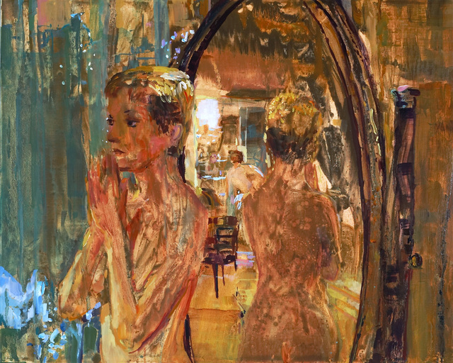 , 'Isabelle Huppert in Mirror Just Before She Doesn't Have Sex with Saint-Genis from La Truite,' 2005, James Barron Art