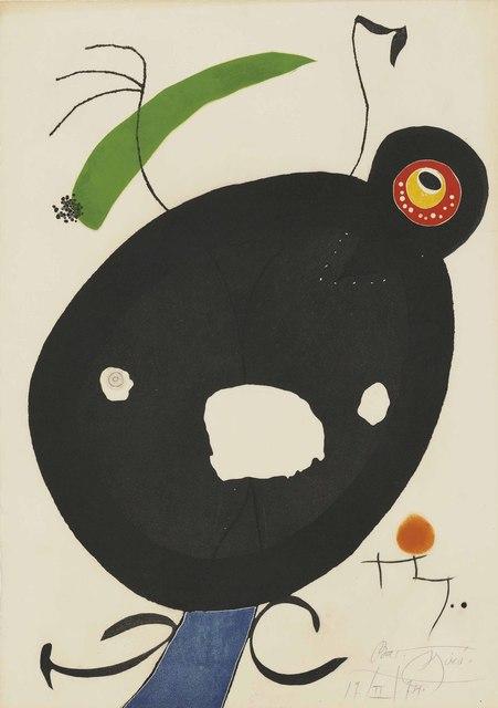 Joan Miró, 'Plate 2 from: Quatre colors aparien el món', 1974, Christie's