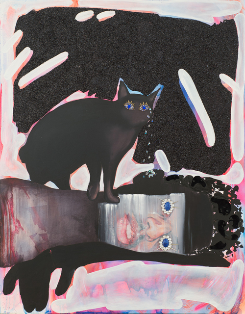 , 'Black Kitty Chrystalline Tears Healing the Black Boy's Tainted Ears,' 2015, Samuel Freeman