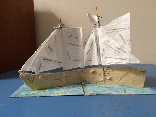 , 'The Wreck of the Hesperus: Pop-Up Ship,' 2016, Seager Gray Gallery