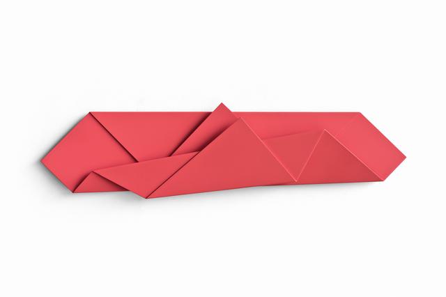 , 'Red Folded Flat 01,' 2015, Galerie Nikolaus Ruzicska