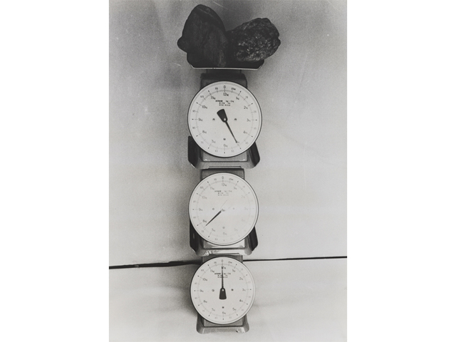 , 'Three Weight-scale and a Stone ,' 1970, Gallery Hyundai