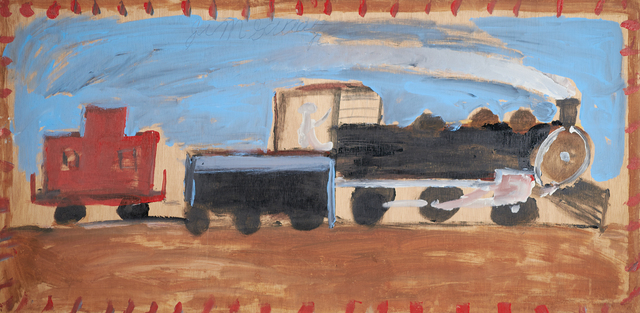 Jimmy Lee Sudduth, 'Train', Painting, Rago/Wright