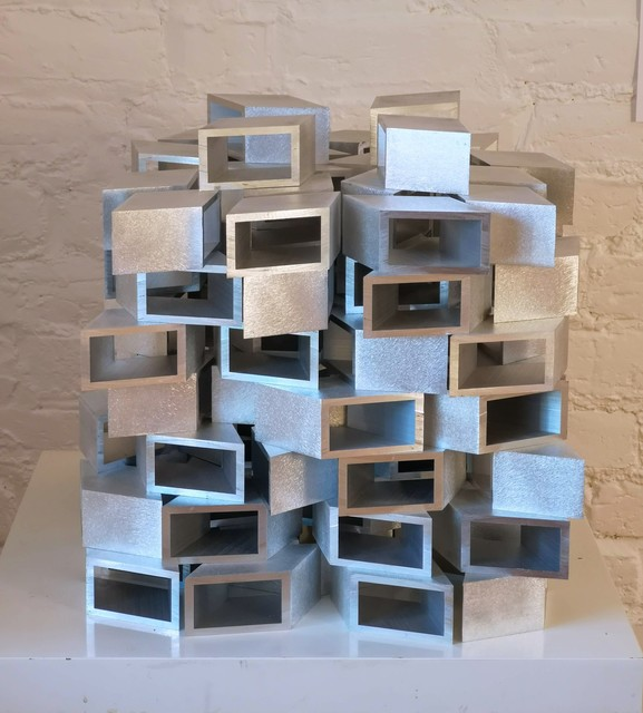 , 'Untitled (2 x 3 @30˚Aluminium stack) ,' 2019, Oliver Sears Gallery