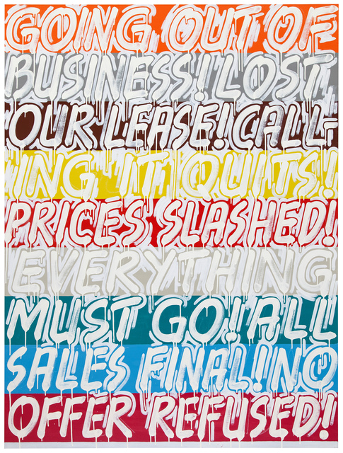 , 'Mel Bochner Going Out Of Business,' 2013, Simon Lee Gallery