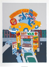 Seymour Chwast, 'George's Car Wash,' circa 1978, Heritage Auctions: Valentine's Day Prints & Multiples