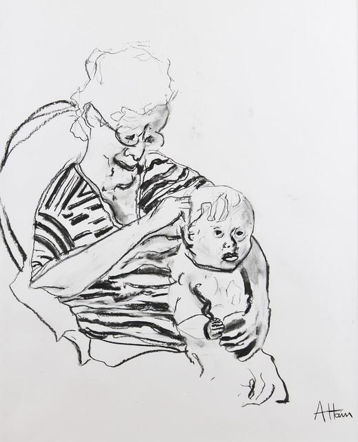 Alex Hain, 'Grandma with child ', 2019, Castlegate House Gallery