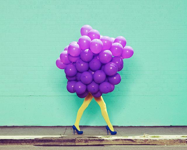 , 'Je Ne Suis Pas Seul Sans Toi (Purple Balloons),' 2013, De Soto Gallery
