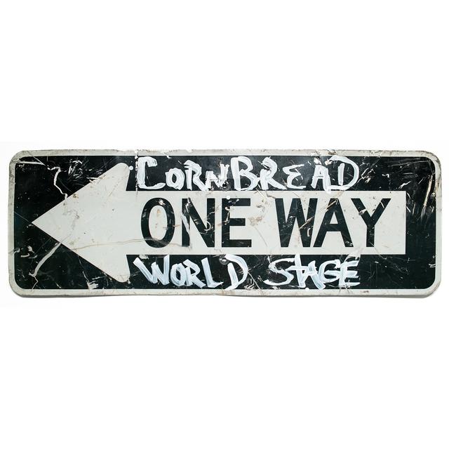 Cornbread, 'Cornbread World Stage', 2019, Sculpture, Acrylic on metal sign, Paradigm Gallery + Studio