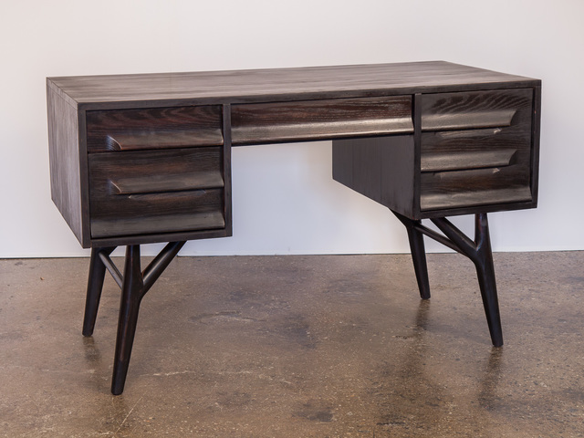 , 'Black Ebonized Oak Desk,' ca. 1950, Open Air Modern