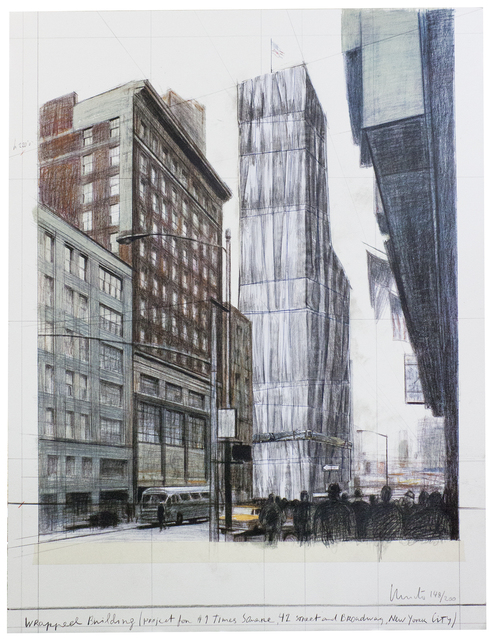 Christo, 'Wrapped Building Times Square', 2004, Drawing, Collage or other Work on Paper, Mixed Media, ArtWise